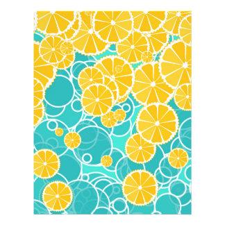 "Naranjas y burbujas folleto 8.5"" x 11"""