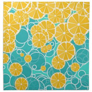 Naranjas y burbujas servilleta de papel