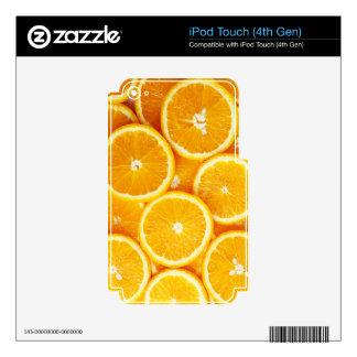 Naranjas y más naranjas iPod touch 4G calcomanías