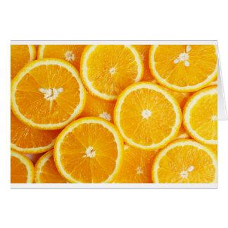 Naranjas y más naranjas tarjeta de felicitación