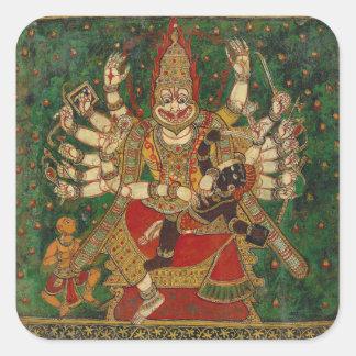 Narasimha Killing Hiranyakashipu On His Lap Square Sticker