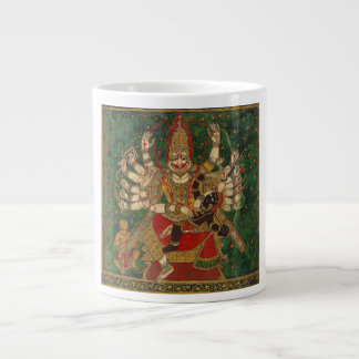 Narasimha que mata a Hiranyakashipu en su revestim Taza Grande