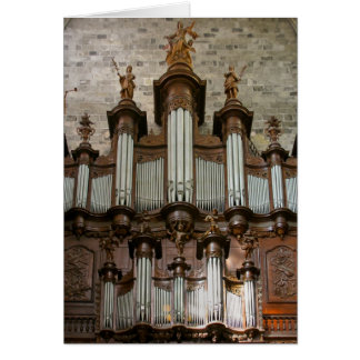 Narbonne Cathedral organ Card