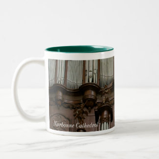 Narbonne Cathedral organ Two-Tone Coffee Mug