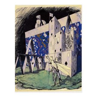 Narbut-Saltamontes de Heorhiy antes de un castillo Tarjeta Postal