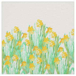 Narciso amarillo dibujado mano linda de la telas
