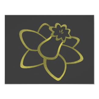 Narciso amarillo invitación 10,8 x 13,9 cm