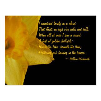 Narciso amarillo; Postal del poema de William