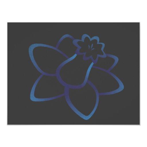 """Narciso azul invitación 4.25"""" x 5.5"""""""