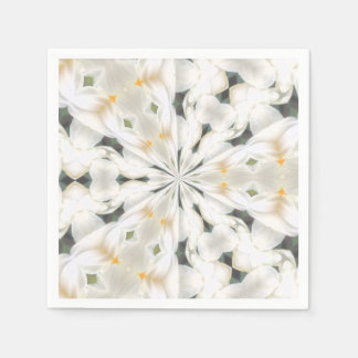 Narciso blanco Kaleidescope Servilletas Desechables