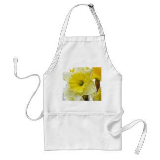 Narciso blanco y amarillo delantal