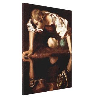Narciso, Caravaggio Impresion De Lienzo