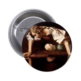 Narciso, Caravaggio Pin Redondo 5 Cm