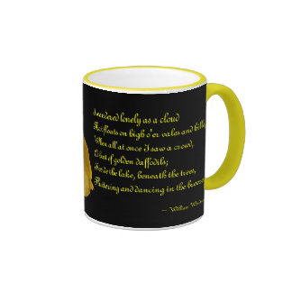 Narciso con la taza de cerámica del poema de