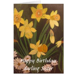 Narciso de la primavera, hermana del querido del tarjeta de felicitación