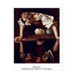 Narciso de Miguel Ángel Merisi DA Caravaggio Tarjeta Postal
