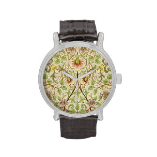 Narciso de moda del papel pintado floral del decor relojes de pulsera