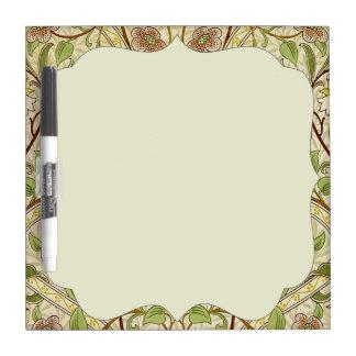 Narciso de moda del papel pintado floral del pizarras blancas
