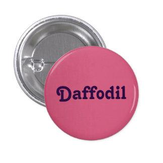 Narciso del botón pin redondo de 1 pulgada