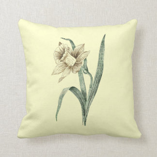 Narciso del vintage almohadas