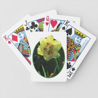 Narciso doble amarillo baraja de cartas bicycle