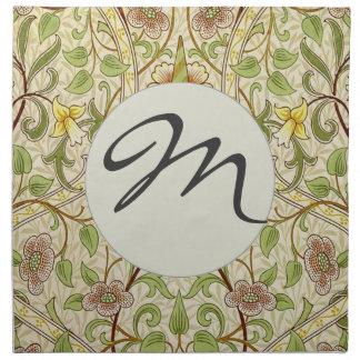 Narciso elegante del papel pintado floral del deco servilletas de papel
