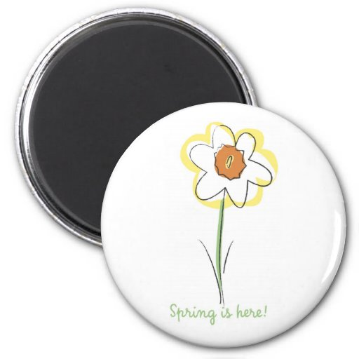 Narciso - escoja imán redondo 5 cm