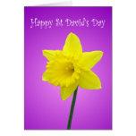 Narciso Galés del día del St Davids Tarjeta