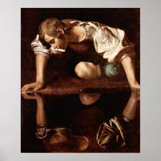 Narciso por Caravaggio Poster