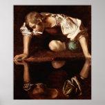 Narciso por Caravaggio Póster