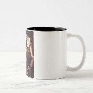 Narciso por Caravaggio Tazas De Café