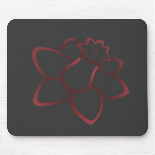 Narciso rojo mousepad