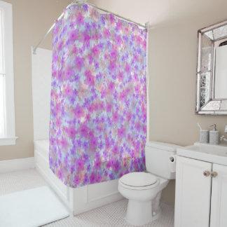 Narciso rosado cortina de baño