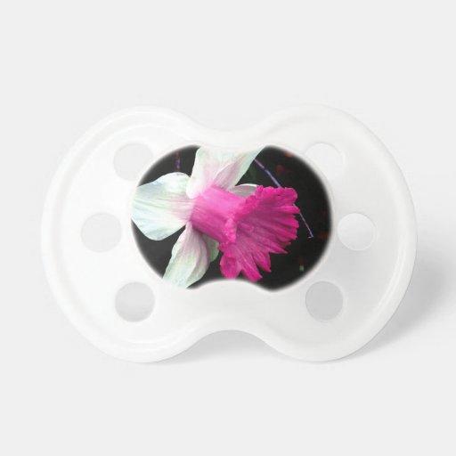Narciso rosado y blanco chupetes de bebé