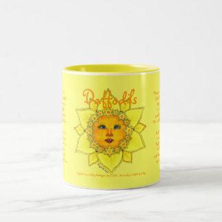 Narciso soleado - taza de dos tonos #3 (amarillo)