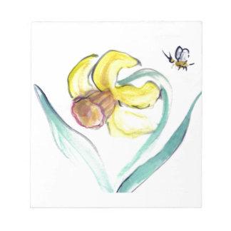 Narciso y abeja de Buzzin, Sumi-e Bloc De Notas
