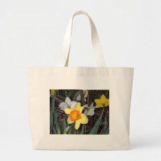 Narcisos 3 bolsa tela grande