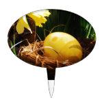 Narcisos amarillos de la primavera y un huevo de P Decoraciones Para Tartas