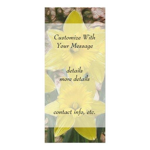 Narcisos amarillos felices tarjeta publicitaria personalizada