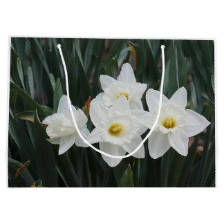 Narcisos blancos bolsa de regalo grande