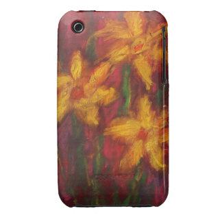 Narcisos del oro en caso rosado del iPhone--Casama iPhone 3 Case-Mate Protector