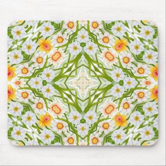 Narcisos geométricos Mousepad de la primavera