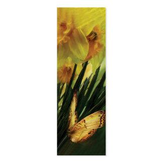 Narcisos - primera flor de la señal de la primaver plantillas de tarjetas de visita