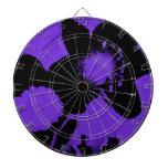 Narcisos púrpuras y negros tabla dardos