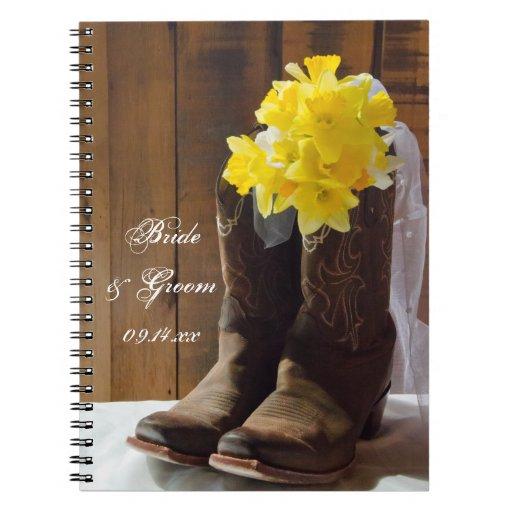 Narcisos y boda occidental del país de las botas spiral notebook