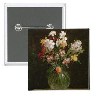 Narcisses Blancs, Jacinthes et Tulipes, 1864 Button