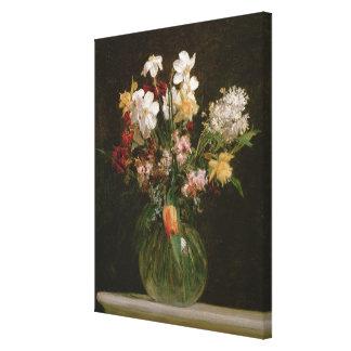 Narcisses Blancs, Jacinthes et Tulipes, 1864 Canvas Print