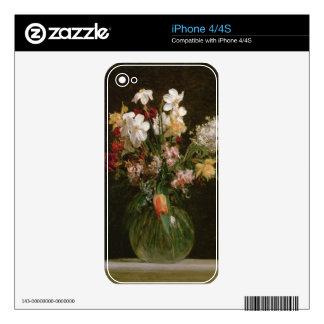 Narcisses Blancs, Jacinthes et Tulipes, 1864 iPhone 4 Decal