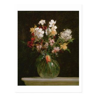 Narcisses Blancs, Jacinthes et Tulipes, 1864 Postcard