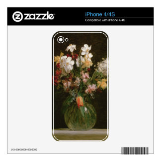 Narcisses Blancs, Jacinthes y Tulipes, 1864 iPhone 4 Skins